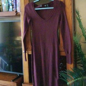 Maroon Maxi Sweater Dress